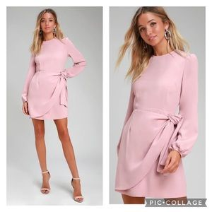 "Lulu's ""Believe It or Knot"" Pale Rose Pink Dress"